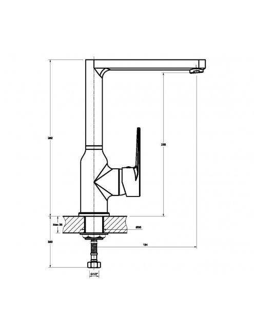 Смеситель 1 Orange Otto M22-000cr для кухонной мойки