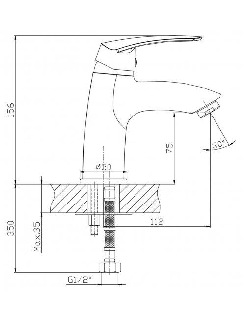 Смеситель 1 Orange Alfi M18-021cr для раковины