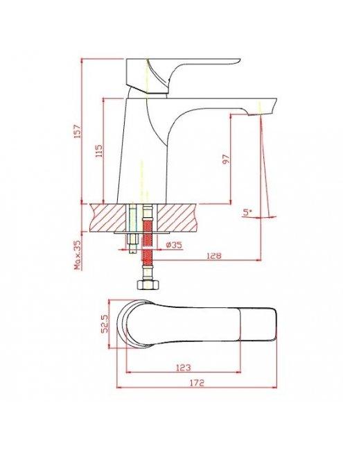 Смеситель 1 Orange Aristo M19-021b для раковины