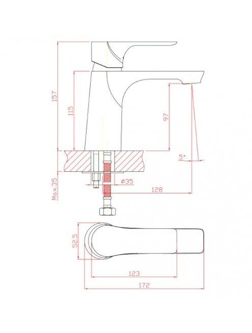 Смеситель 1 Orange Aristo M19-021cr для раковины