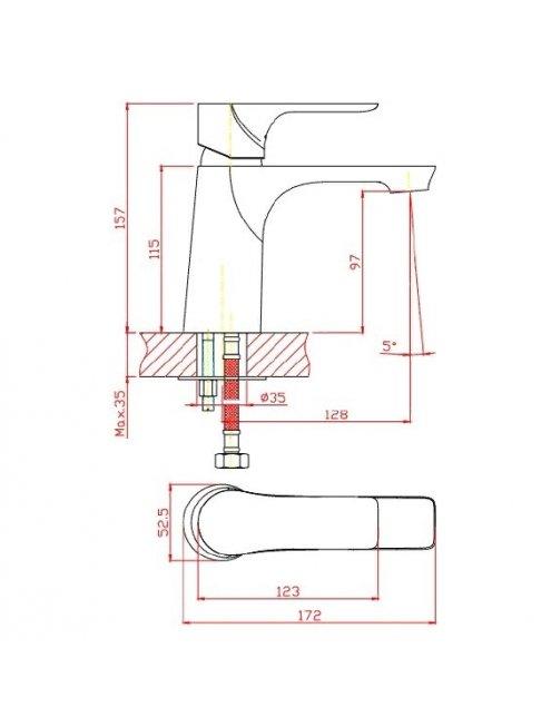 Смеситель 1 Orange Aristo M19-021w для раковины