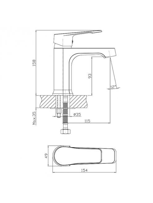Смеситель 1 Orange Berti M17-021cr для раковины