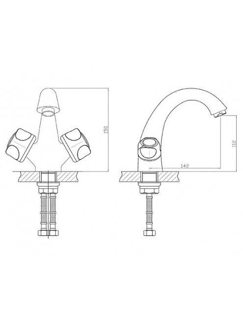 Смеситель 1 Orange Classic R M73-021cr для раковины
