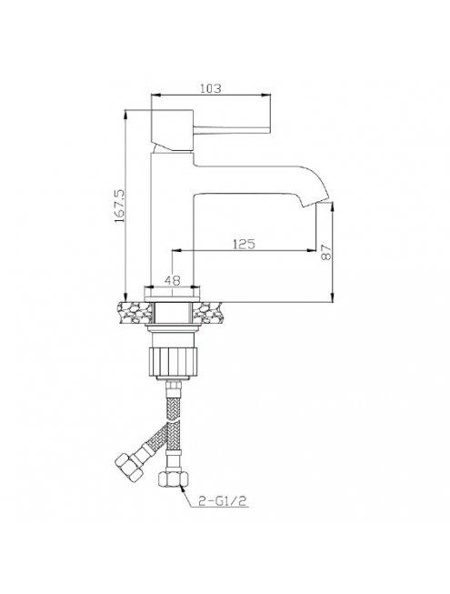 Смеситель 1 Orange Karl M05-021cr для раковины