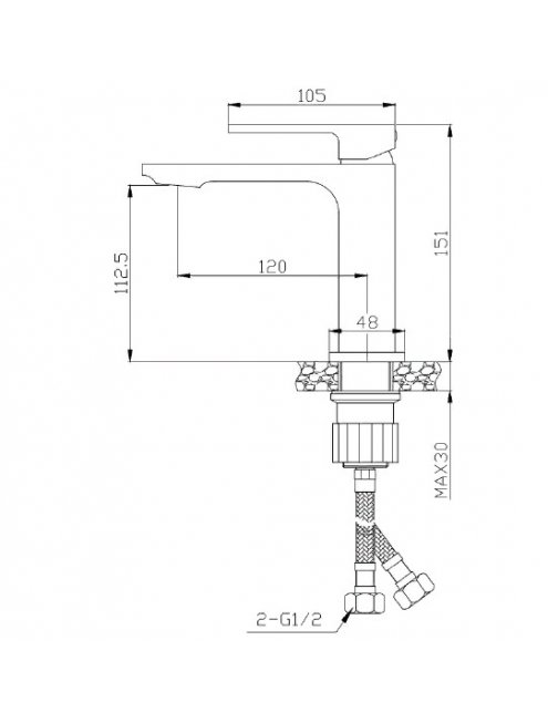 Смеситель 1 Orange Lutz M04-021cr для раковины