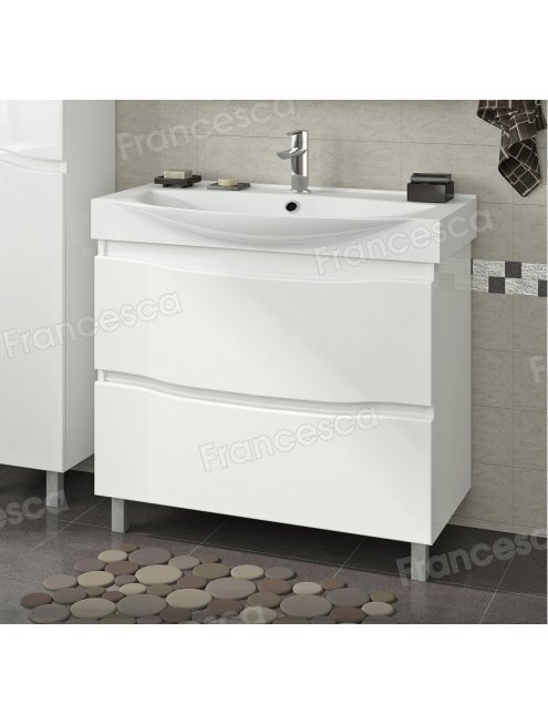Комплект мебели Francesca Forte 85 напольная белый (2 ящика, ум. Элвис 85)