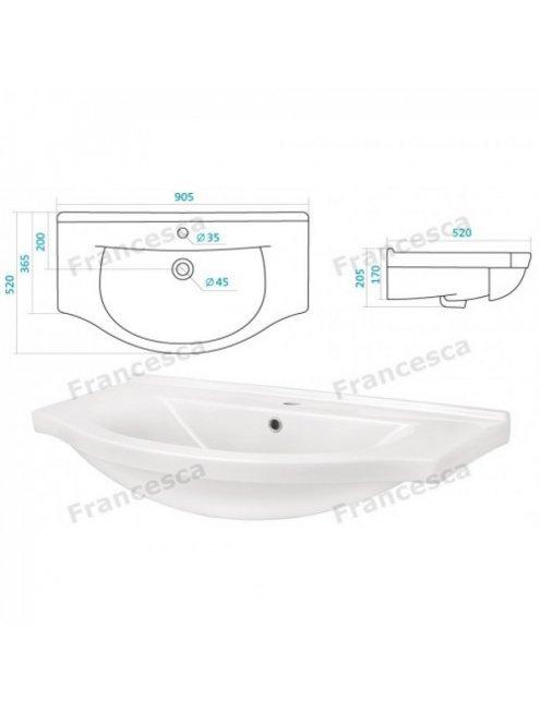 Комплект мебели Francesca Империя 90-2 венге