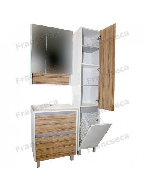 Комплект мебели Francesca Doremi 80, белый/ясень (2 ящика, ум. Cомо 80)