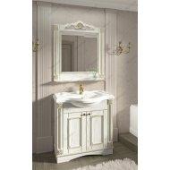 Комплект мебели Венеция Аврора 85 белый с патиной золото