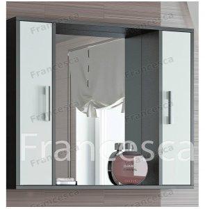 Шкаф-зеркало Francesca Eco 90 белый-венге