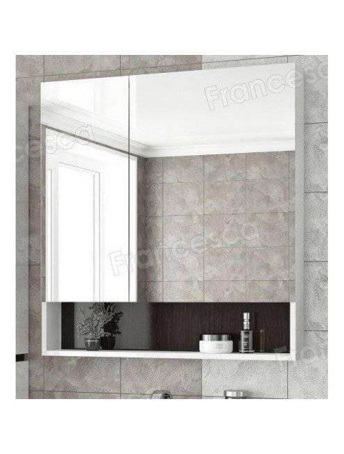 Шкаф-зеркало Francesca Latina 80 белый-венге