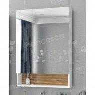 Шкаф-зеркало Francesca Doremi 60, белый/ясень