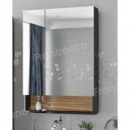 Шкаф-зеркало Francesca Doremi 60, черный/ясень