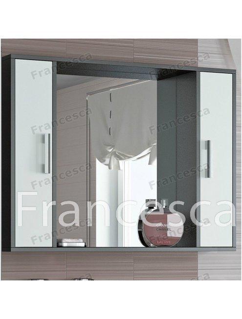 Шкаф-зеркало Francesca Eco 100 белый-венге