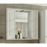 Шкаф-зеркало Francesca Империя 80 белый 2 шкафа