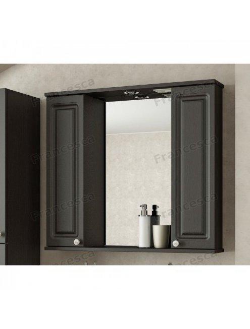 Шкаф-зеркало Francesca Империя 80 венге 2 шкафа