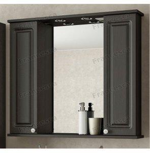 Шкаф-зеркало Francesca Империя 90 2 шкафчика венге