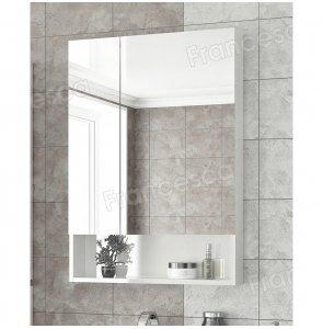 Шкаф-зеркало Francesca Latina 60 белый