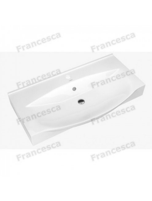Тумба с раковиной Francesca Forte 85 напольная черный (3 ящика, ум. Элвис 85)