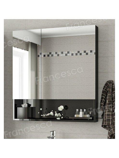 Зеркало-шкаф Francesca Forte 60 черный