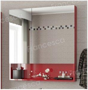 Зеркало-шкаф Francesca Forte 80 красный