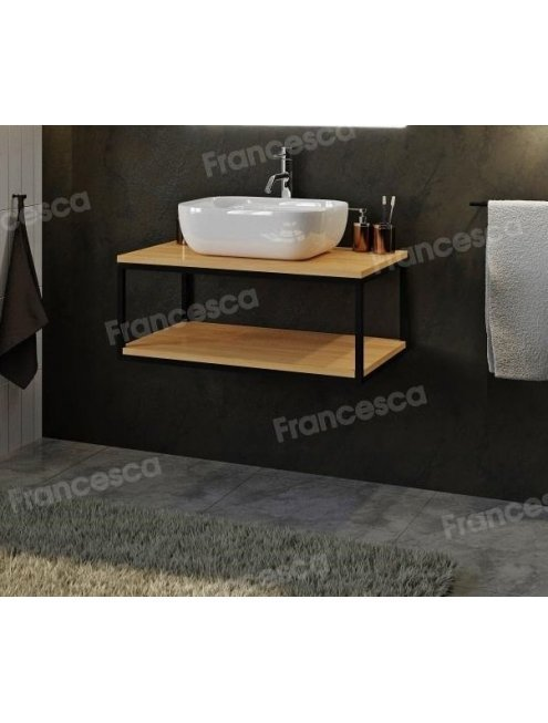 Комплект мебели Loft Теннеси 80 (ум. Купер 56) черная