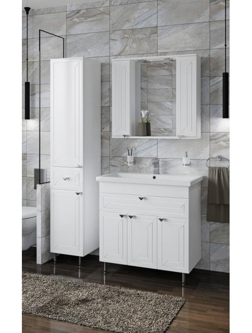 Зеркало-шкаф Francesca Адажио 80 белый