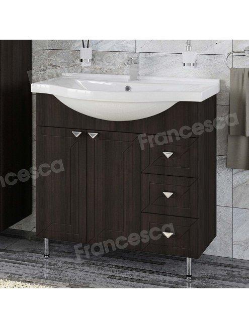 Комплект мебели Francesca Адажио 80 венге (2дв.+3ящ, ум. Эльбрус 80)
