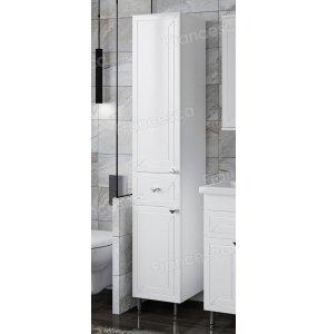 Шкаф-пенал Francesca Адажио 30 белый, с бельевой корзиной
