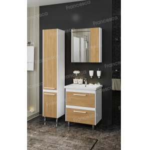Комплект мебели Francesca Doremi new 60 напольная (раковина Como 60), дуб небраска