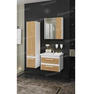 Комплект мебели Francesca Doremi new 60 подвесная (раковина Como 60), дуб небраска