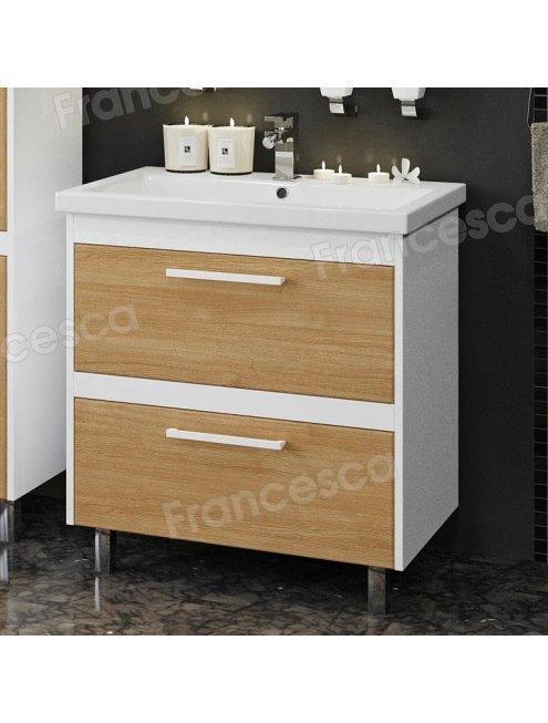 Комплект мебели Francesca Doremi new 70 напольная (раковина Como 70), дуб небраска