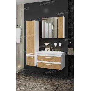 Комплект мебели Francesca Doremi new 80 подвесная (раковина Como 80), дуб небраска
