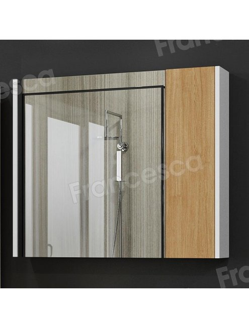 Зеркало-шкаф Francesca Doremi new 80, дуб небраска