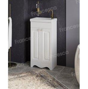 Тумба с раковиной Francesca Империя 40 белый (2дв ум. Como 40)
