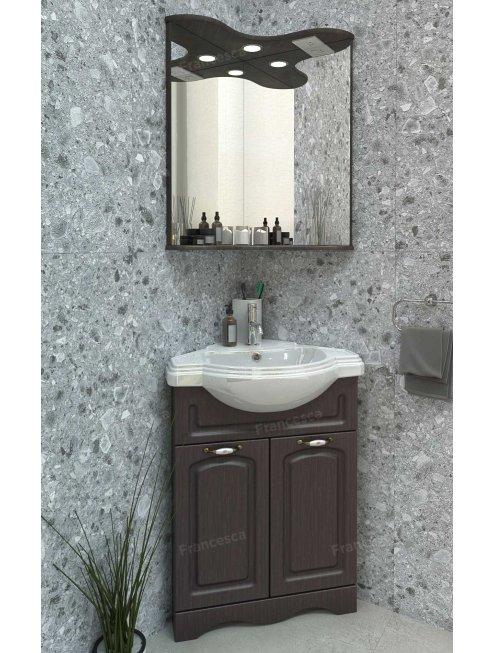 Зеркало Francesca Империя 65 угловое венге