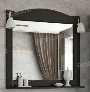 Зеркало Francesca Империя П 80 венге (полотно+светильники Изабель)