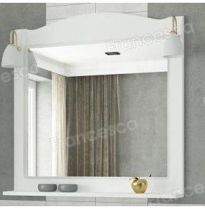 Зеркало Francesca Империя П 80 белый (полотно+светильники Изабель)
