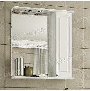 Шкаф-зеркало Francesca Империя 70 белый