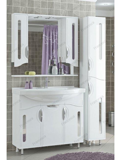 Зеркало-шкаф Francesca Инфинити 100 2С белый 2 шкафа