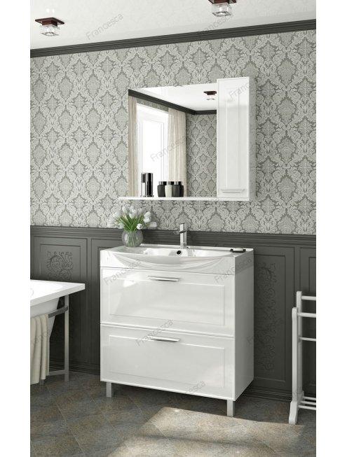 Зеркало-шкаф Francesca Liverpool 85 белый