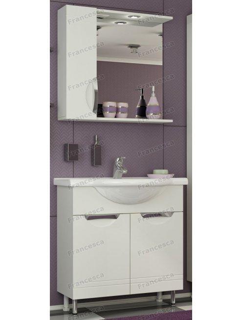 Шкаф-зеркало Francesca Доминго 70 С белый