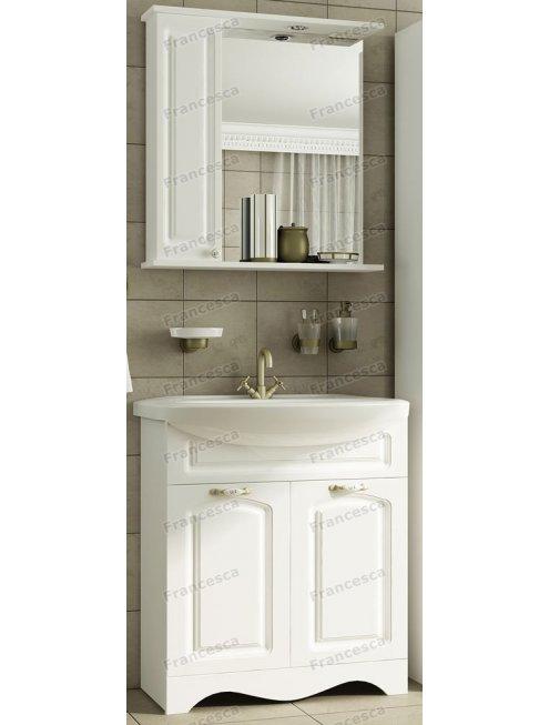 Шкаф-зеркало Francesca Империя 75 белый