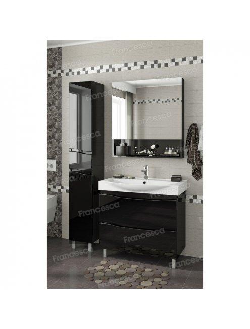 Зеркало-шкаф Francesca Forte 80 черный