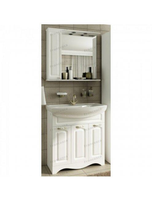 Шкаф-зеркало Francesca Империя 80 белый