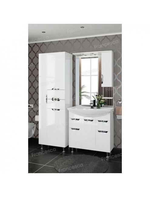 Шкаф-зеркало Francesca Виктория 80 белый