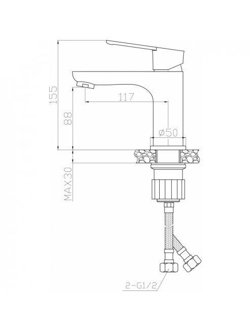 Смеситель Agger Brave А2302100 для раковины