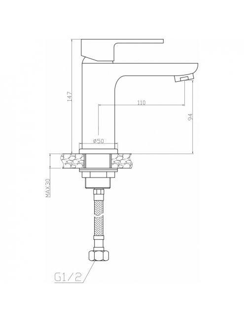 Смеситель Agger Gorgeous A0202100 для раковины