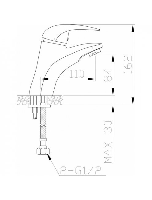 Смеситель Agger Proud A0802100 для раковины