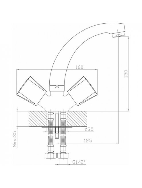 Смеситель Agger Retro-R A2001100 для раковины